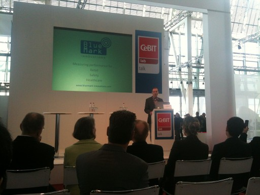 Pitch of Bluemark Innovations in the CeBIT lab talk