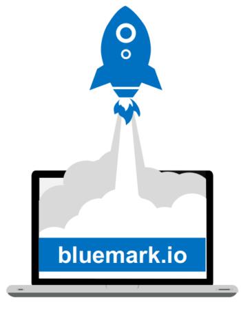 new bluemark.io website